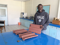 Roof tiles from recycled plastics and glass, Kenya