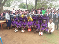 DISTRIBUTION OF FOOTBALL KITS TO SCHOOLS