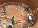 Construction of rain water harvesting cisterns