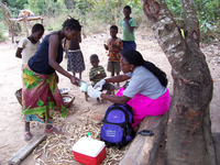 Water quality monitoring with a DNA-based field device in Mozambique